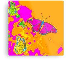 Psychedelic Butterflies  Metal Print