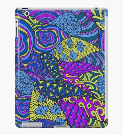 Colorful abstract psychedelic art iPad Case/Skin