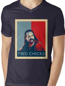Men's Office Space Neighbor Lawrence - Two Chicks Same Time  Mens V-Neck T-Shirt