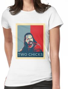 Men's Office Space Neighbor Lawrence - Two Chicks Same Time  Womens Fitted T-Shirt