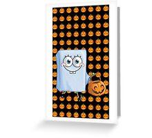 Spong Bob for halloween Greeting Card