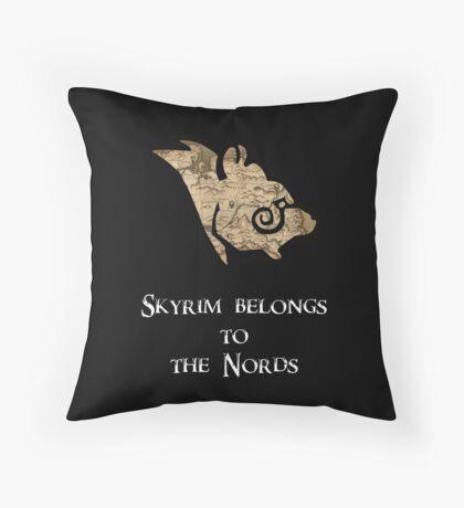Skyrim belongs to the Nords! Throw Pillow
