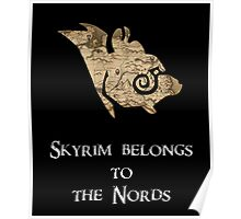 Skyrim belongs to the Nords! Poster
