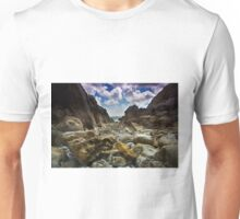 Stoney Cove Below Lydstep Head,Pembrokeshire Unisex T-Shirt