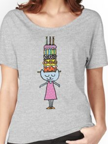Mrs Cat's Amazing Cake Hat Women's Relaxed Fit T-Shirt