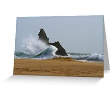 Sea, Rock,Sand.Philosophical erosion.. Greeting Card