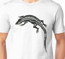 Common Lizard Lino Print Unisex T-Shirt