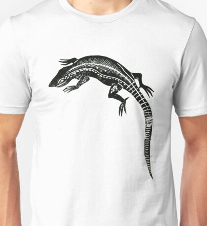 Common Lizard Lino Print Unisex T-Shirt