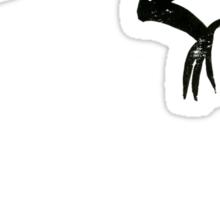 Common Lizard Lino Print Sticker