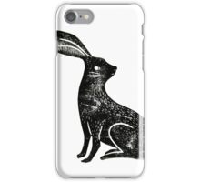 Hare Lino Print iPhone Case/Skin