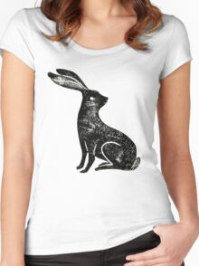 Hare Lino Print Women's Fitted Scoop T-Shirt
