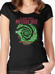 The World Famous Mystery Spot Women's Fitted Scoop T-Shirt