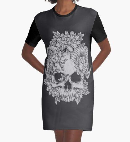 Japanese Skull Graphic T-Shirt Dress