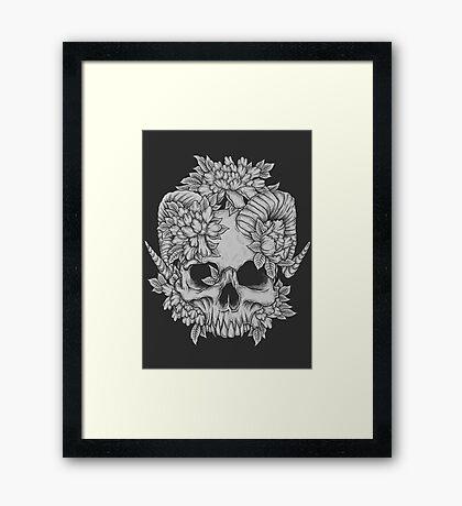 Japanese Skull Framed Print