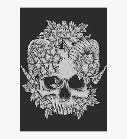 Japanese Skull Photographic Print
