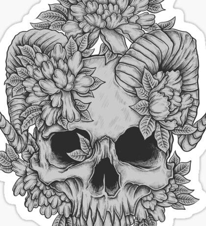 Japanese Skull Sticker