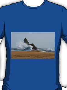 Sea, Rock,Sand.Philosophical erosion.. T-Shirt