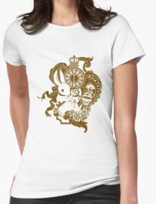 White Rabbit in Brown Womens Fitted T-Shirt