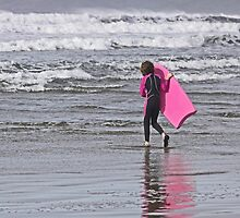 Bodyboarding - Challenging the Waves - A Young Girl Challenges the Pacific Ocean  by Buckwhite
