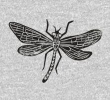 Dragonfly Insect Lino Print Kids Clothes