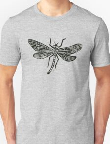 Dragonfly Insect Lino Print T-Shirt