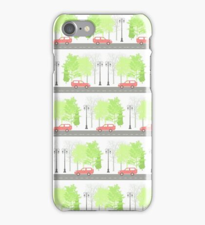 Cars and trees iPhone Case/Skin