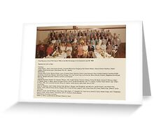 THIRD REUNION OF THE ATHS CLASS OF 1935 ON THE 49TH ANNIVERSARY OF ITS GRADUATION JUNE 30, 1984 Greeting Card