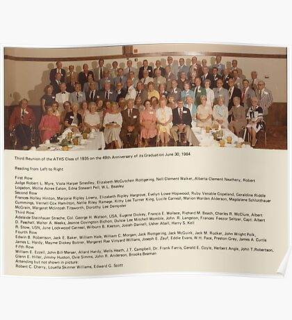 THIRD REUNION OF THE ATHS CLASS OF 1935 ON THE 49TH ANNIVERSARY OF ITS GRADUATION JUNE 30, 1984 Poster