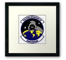 23rd Space Operations Squadron (23 SOPS) Crest Framed Print
