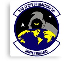 23rd Space Operations Squadron (23 SOPS) Crest Canvas Print