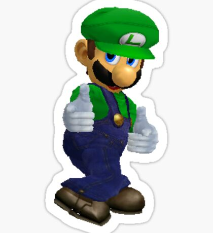Luigi Finger Guns Sticker