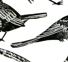 Bird Collection Lino Prints Sticker