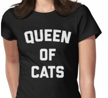 Queen Of Cats Funny Quote Womens Fitted T-Shirt
