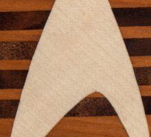 st original badge of wood sci-fi Sticker