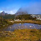 Cradle Mountain as seen between Kitchen Hut and Marion Lookout. by Nicholas Griffin