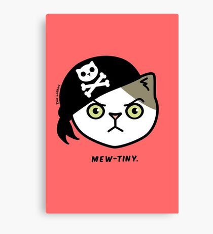 Mew-tiny Kitty Cat Pirate  Canvas Print