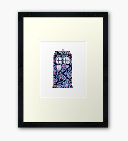 Floral Tardis 2 Framed Print
