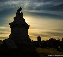 Pittsburgh Cemetery at Sunset (1) by BLaskowsky