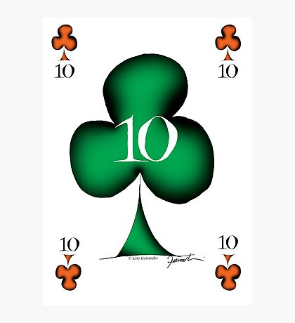 Lucky No.10 of Clubs by Tony Fernandes Photographic Print