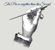 The pen is mightier than the sword. by protestall