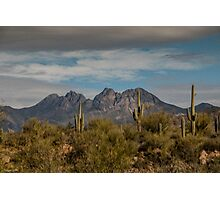 Four Peaks Painterly Photographic Print
