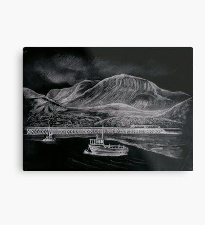 cader Idris & Barmouth harbour Metal Print