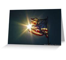 Sun & American Flag Greeting Card