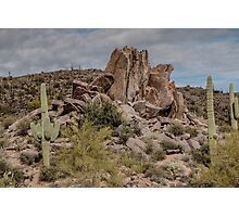 Desert Rock Formation Photographic Print