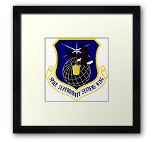 Space Superiority Systems Wing (SYSW) Crest Framed Print