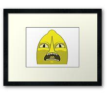 Lemon grab UNACCEPTABLE  Framed Print
