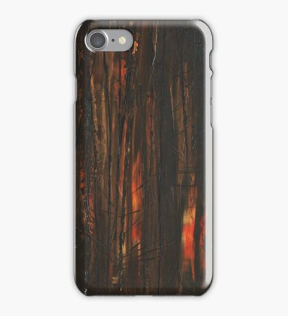 Burning, a tree, alone, falling in the forest iPhone Case/Skin