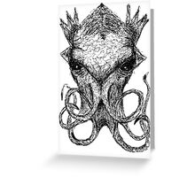 Cthulhu Scratch  Greeting Card
