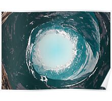 Ocean wave spiral Poster