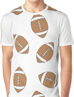 american football doodle pattern Graphic T-Shirt